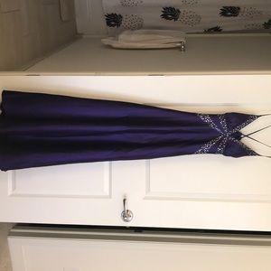 Royal purple homecoming/prom dress